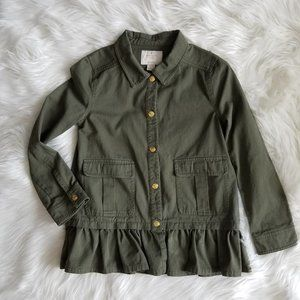 Kate Spade Olive Green Field Jacket Size 12Y